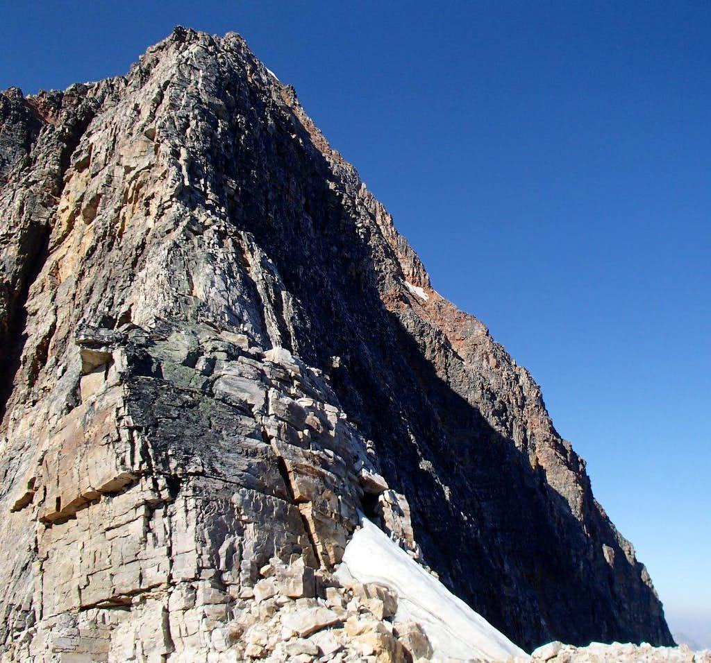 Edith Cavell East Ridge - above 1st step