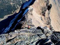 Upper part of 5.3 pitch - East ridge of Edith Cavell