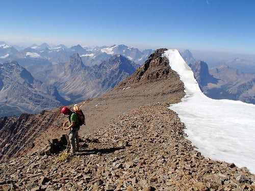 Edith Cavell summit from East summit