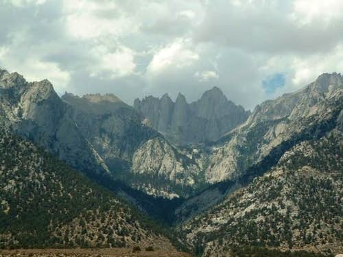 Looking back at Mount Whitney...