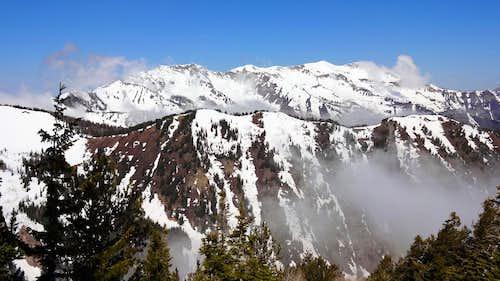 Cascade Mountain from Lightning Peak.