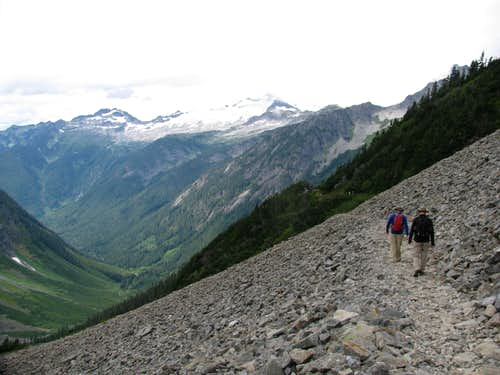 Descending from Cascade Pass