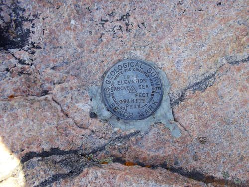 Granite Peak Summit Marker