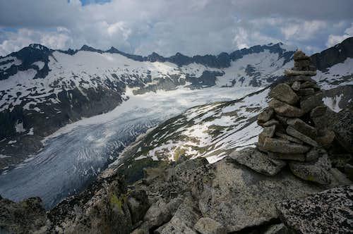 Rhone Glacier as seen from the summit of  Klein Furkahorn