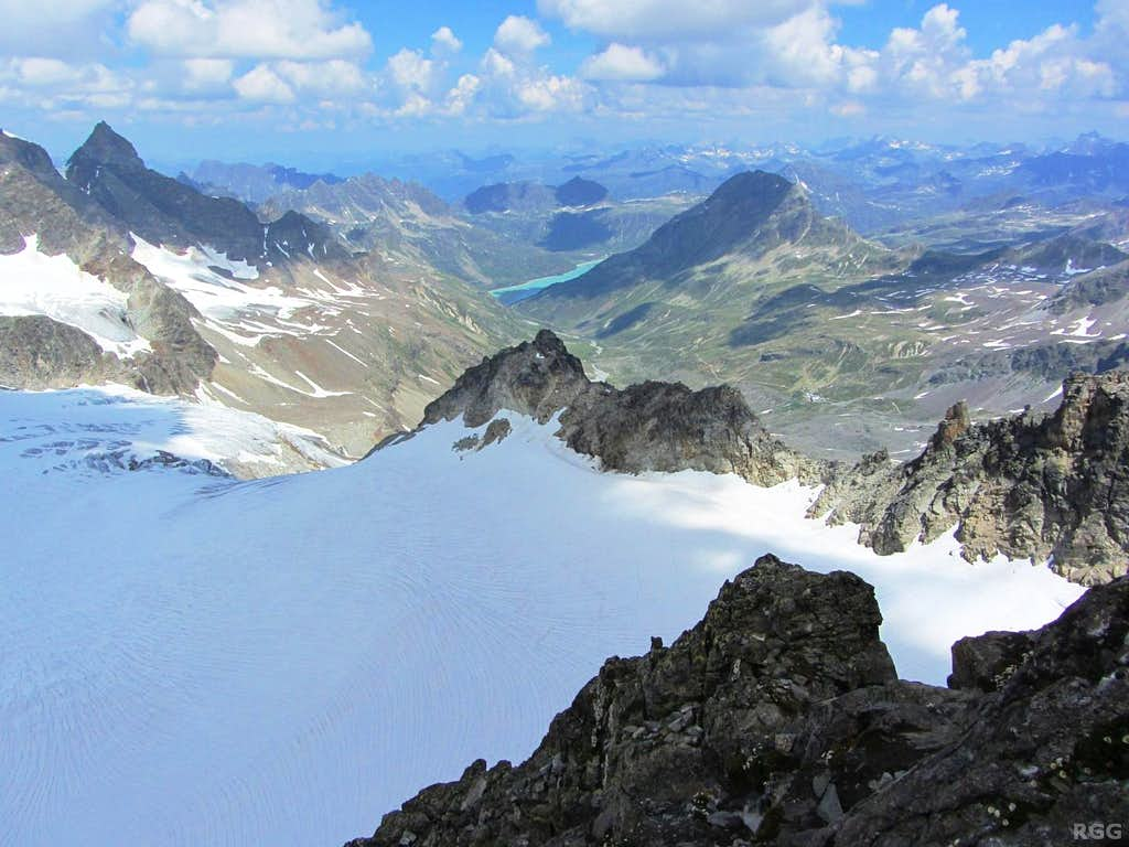 View from high on Piz Buin