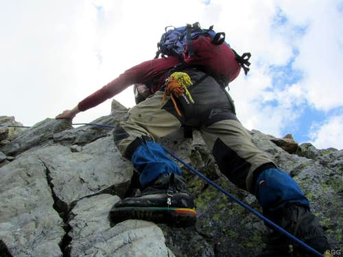 Scrambling on Piz Buin