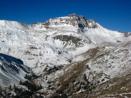 Gilpin Peak under fresh fall snow