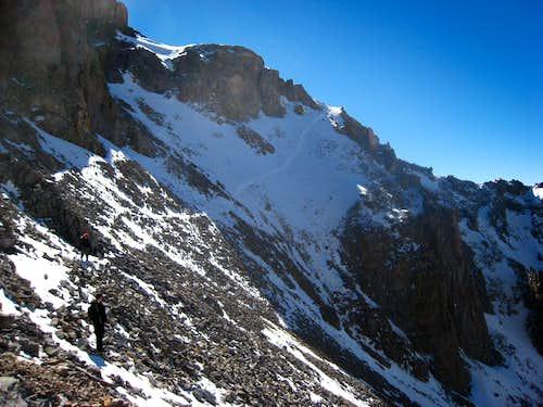 Traversing on Teakettle Mountain