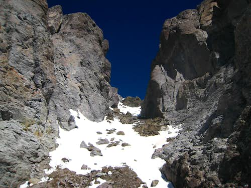 The black gully on Teakettle
