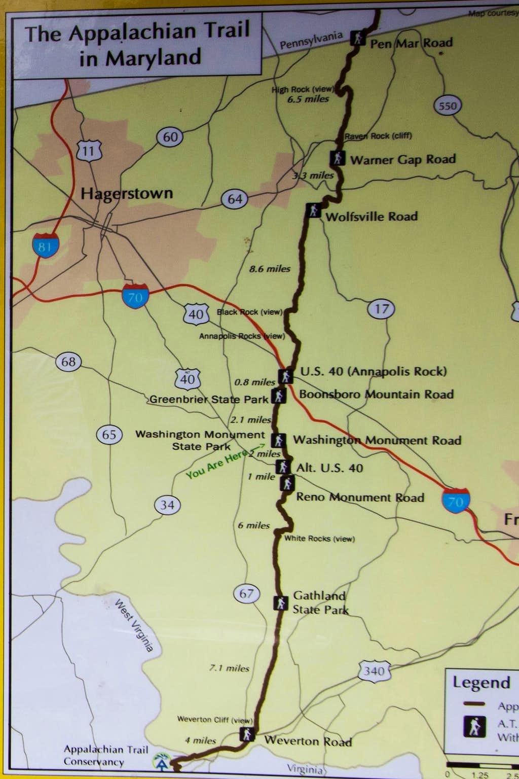 Appalachian Trail in Maryland : Photos, Diagrams & Topos ...