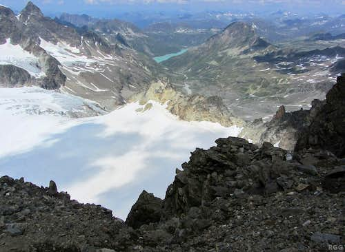 Piz Buin summit view to the north