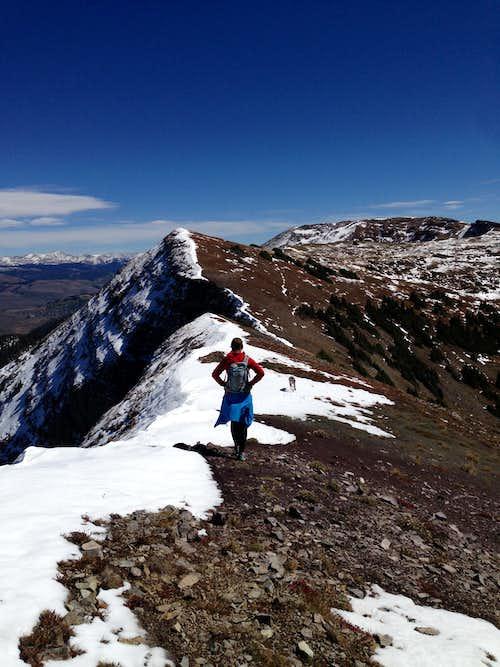 Scarp Ridge Leading to Mt. Emmons
