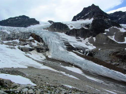 The snout of the Ochsental Glacier