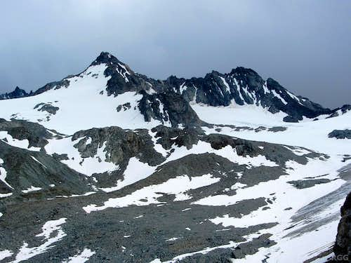 Dreiländerspitze (3197m) from the northwest