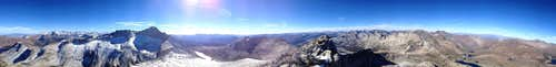 Summit panorama at North Peak