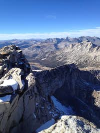 View from summit of North Peak, CA, looking North