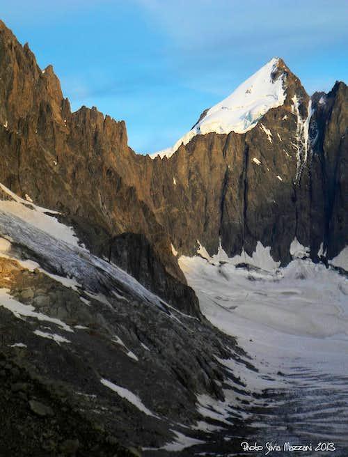 Mont Dolent, the summit of three borders