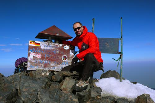 Top of Uganda (5109m / 16763ft)