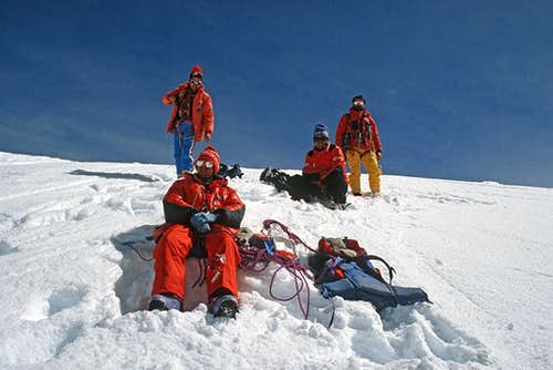 On the top of Nevado Illampu