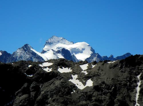 La Barre des Ecrins, the southernmost 4000 of the Alps, seen from Tete Colombe