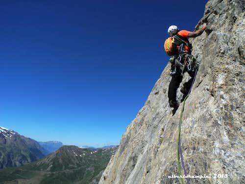 Beautiful rock climb on