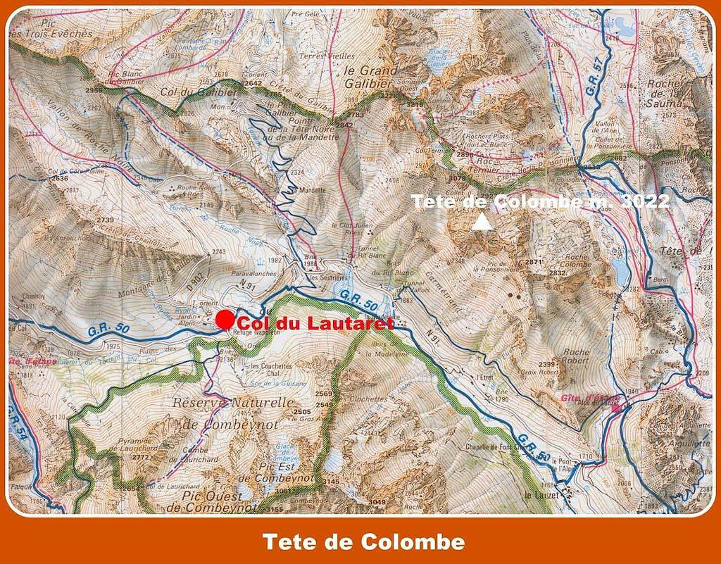 Tête de Colombe map