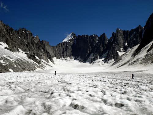 The approach on Glacier d'Argentière
