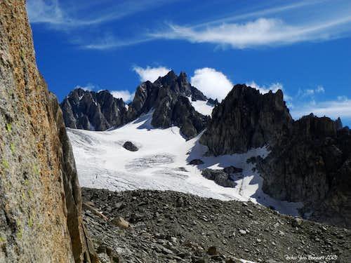 Glacier de Amétystes, near Refuge d'Argentiére