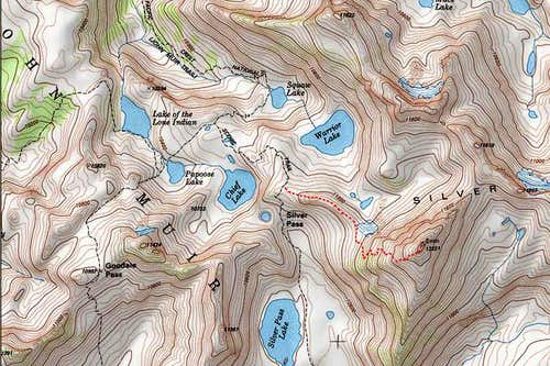 Map of the Silver Pass...