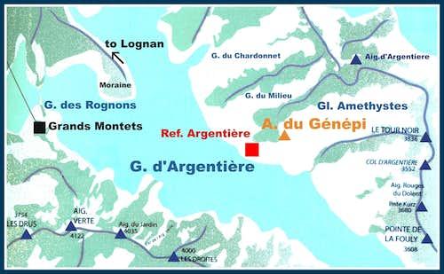 Aiguille du Génépi map