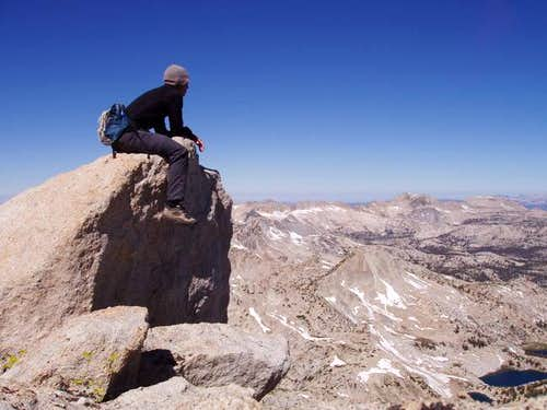 Sitting atop the summit block...