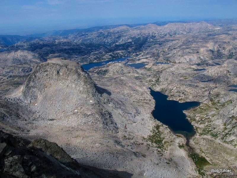 Elephant Head, Island Lake, and Indian Basin from Ellingwood Peak