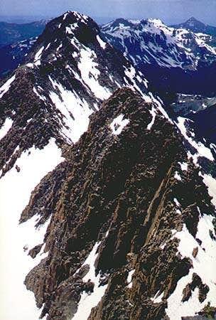 The El Diente ridge of Mount...