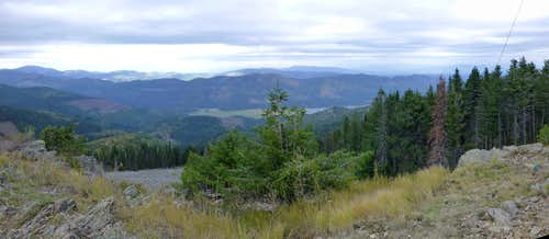 Rathdrum Mountain pano - west through north