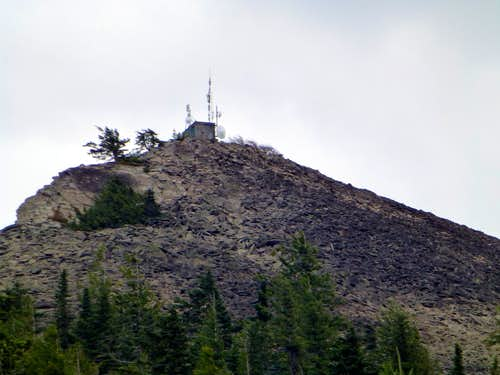 Rathdrum Mountain's summit from the west