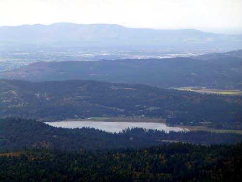 Hauser Lake from Rathdrum Mountain