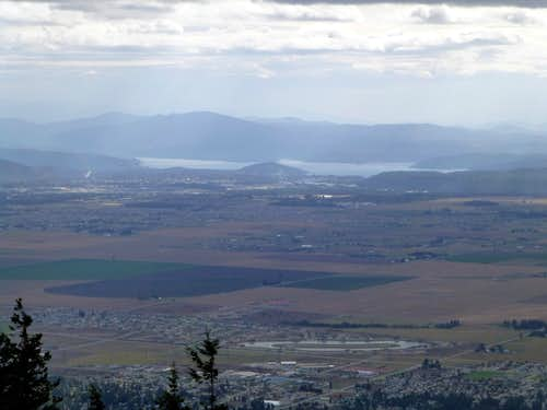 Coeur d'Alene from Rathdrum Mountain
