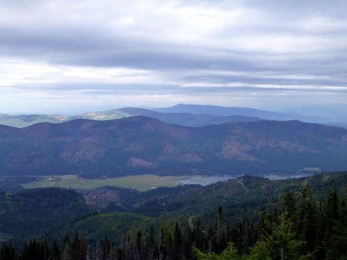 Upper Twin Lake from Rathdrum Mountain