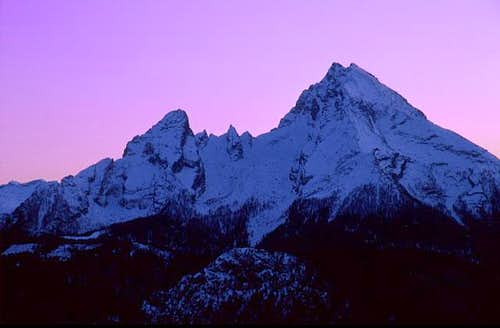 Watzmann in afterglow