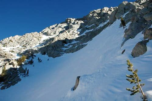 Steep snow slope on the...