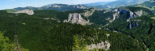 Rocks of the Bicaz gorges