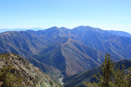 San Antonio Ridge from Mount Baden-Powell
