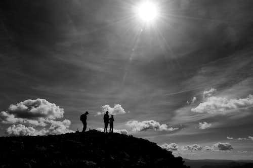Summitting Wetterhorn Peak