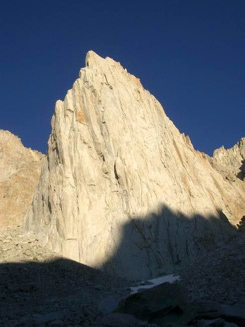 The large granite face of the...