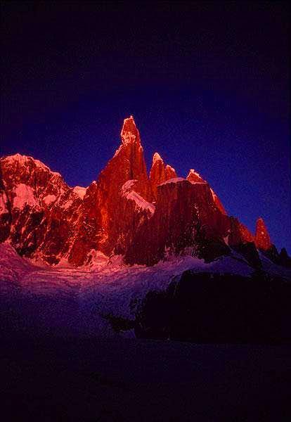 Cerro Torre 3128 m. Early...