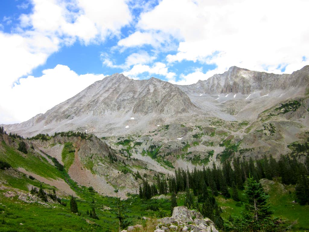 Snowmass Mountain from Lead King Basin