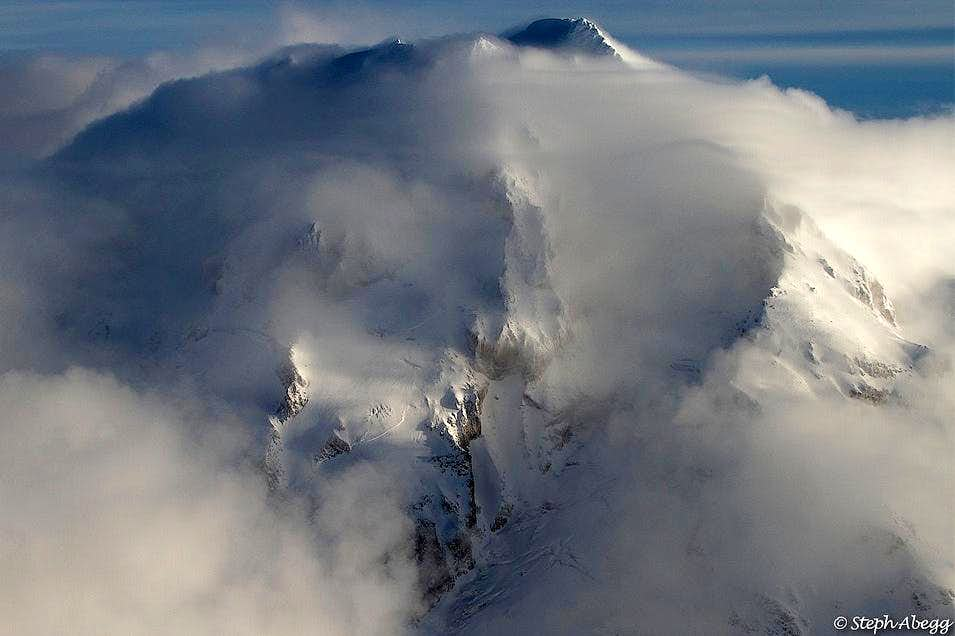 Glacier Peak Enshrouded in Clouds