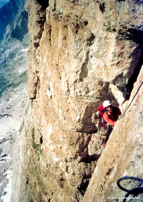 Cima d'Ambiez, the climb in the Eighties