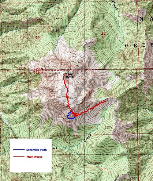 Kelly Butte Route Map
