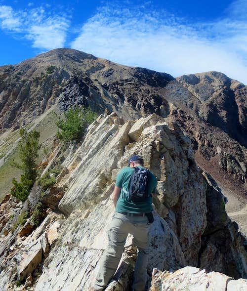 AF Twins NE Ridge Crux